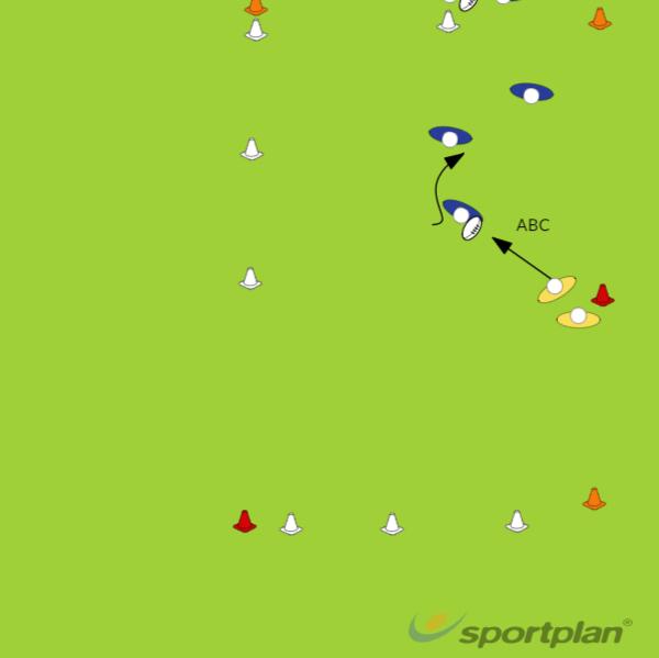 Basic 1 tegen 2Rugby Drills Coaching