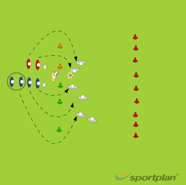 Offload 4 vs 2Decision makingRugby Drills Coaching