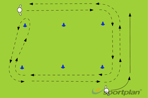 Conditioning Drill 2AgilityFootball Drills Coaching