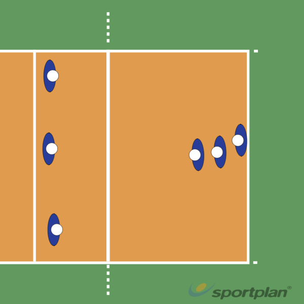 Opwarming met 5-6Volleyball Drills Coaching