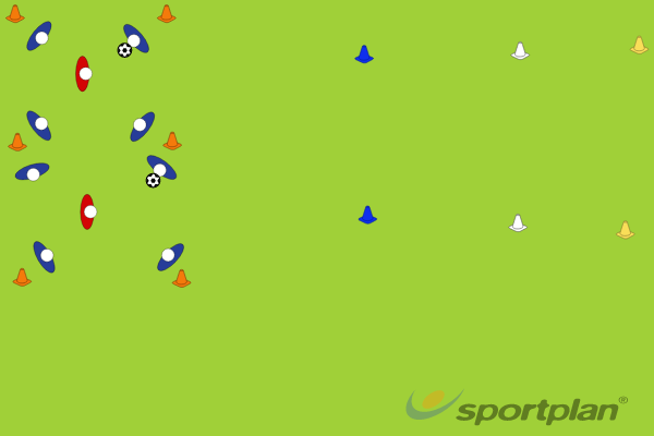 4 v 1 ShuttlesPossessionFootball Drills Coaching