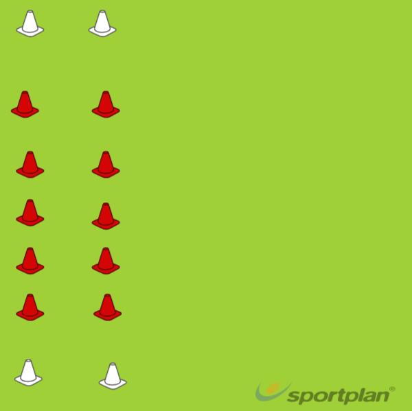 Fast Lane-Dribbling Drill 3DribblingFootball Drills Coaching