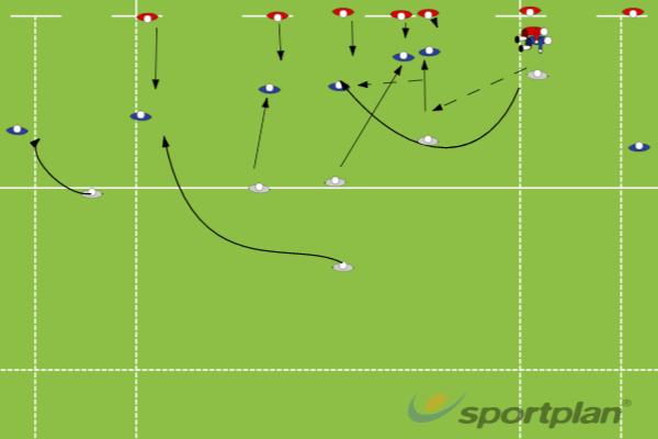 Scrum-Half Slip BallBacks MovesRugby Drills Coaching