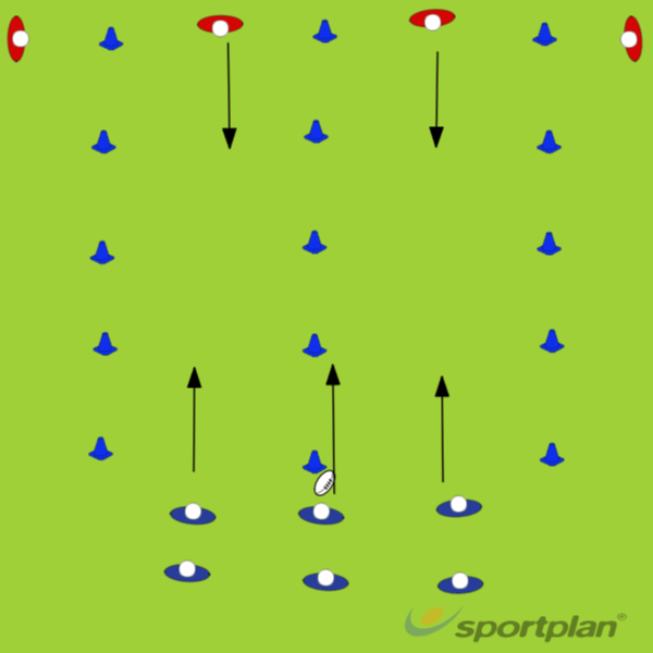 Attack The SpaceDecision makingRugby Drills Coaching