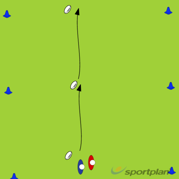 Roll ball to tryRugby Drills Coaching