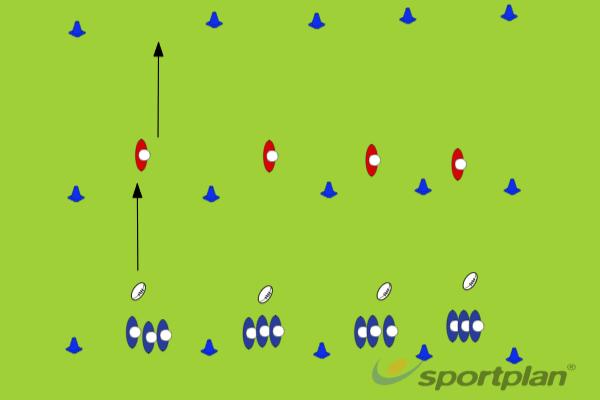 3 v 2 Pick n PopRugby Drills Coaching