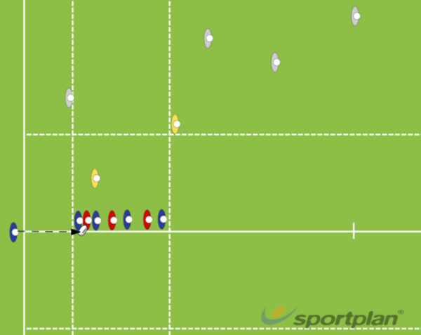 7 Person Lineout - 11 BallLineoutRugby Drills Coaching