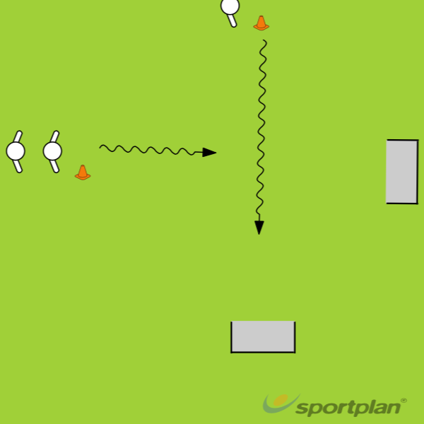 1v1 transition w/2 goals1 v 1 skillsFootball Drills Coaching
