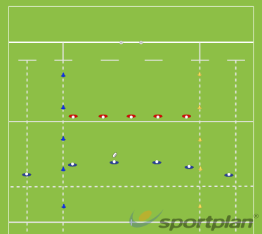 Wide channel touchHandlingRugby Drills Coaching