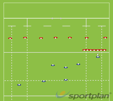 Alternating Defence TouchDecision makingRugby Drills Coaching
