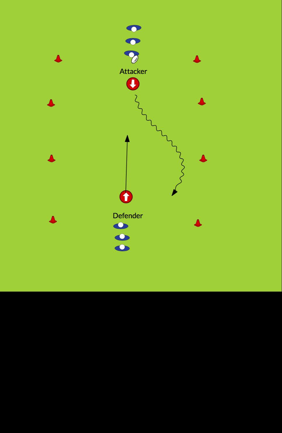 1 vs 1Rugby Drills Coaching
