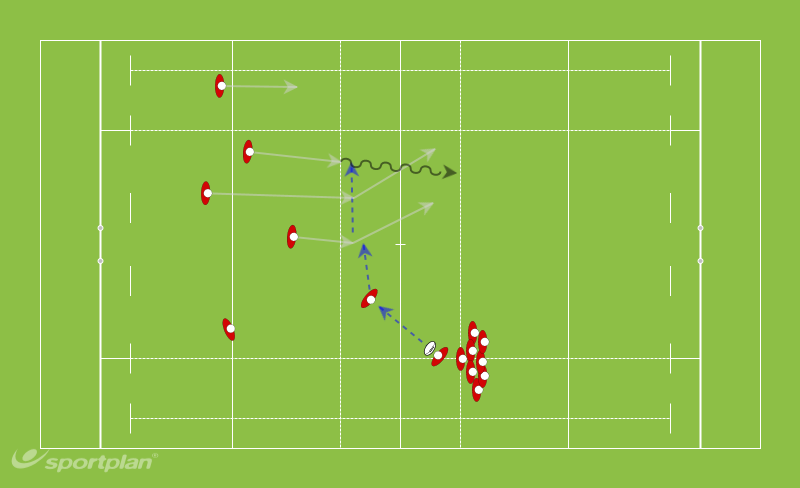Red2  (Gerald)Backs MovesRugby Drills Coaching