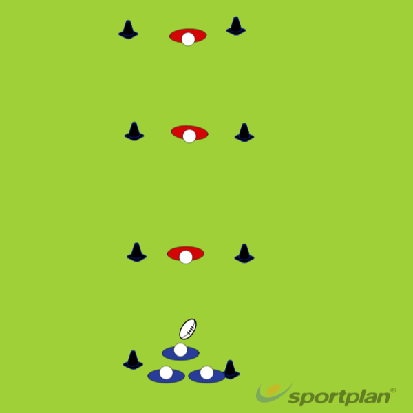 3 v 1 Rocket ball - Supporting in the breakdownRugby Drills Coaching