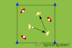 Possession 3 v 3 GamePossessionHockey Drills Coaching