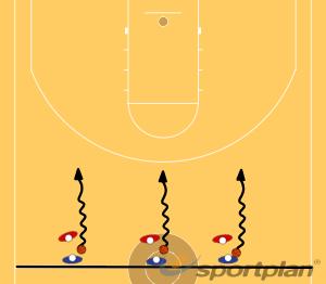 Copy of Dribble, Pass, Pivot - PartnerDribblingBasketball Drills Coaching