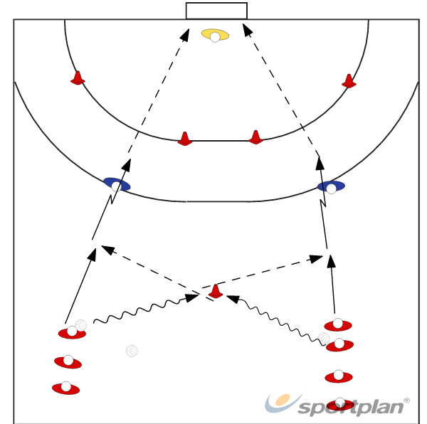 1x1 Técnica OfensivaHandball Drills Coaching