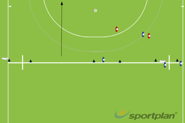 4v2 Attacking Game Right/Left SideOverload situationsHockey Drills Coaching