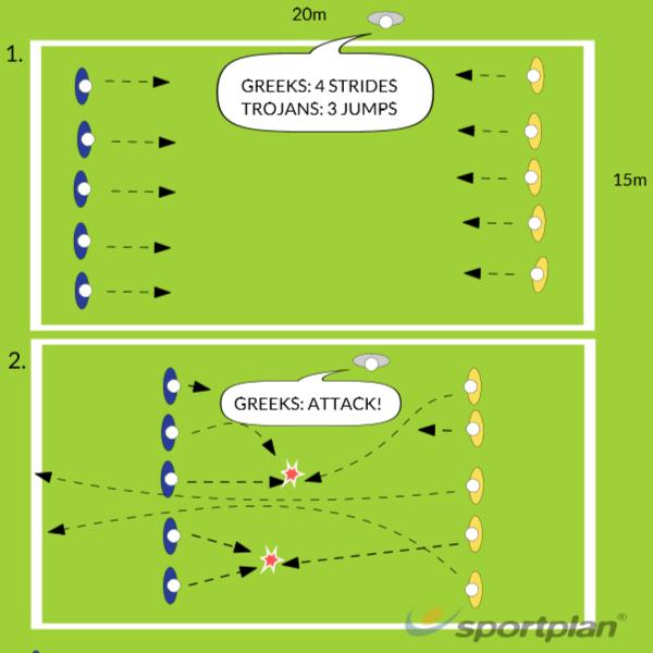 Greeks & TrojansTag RugbyRugby Drills Coaching