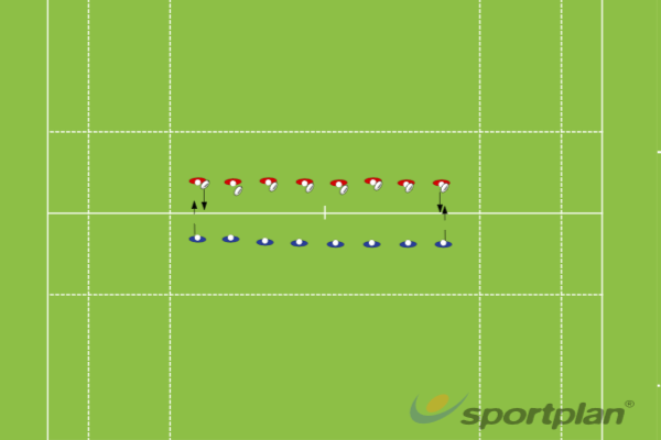 Tackle into Kick Chase and Line SpeedRugby Drills Coaching