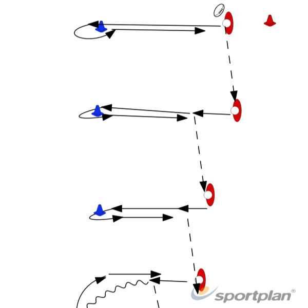 Long Passing DrillPassingRugby Drills Coaching