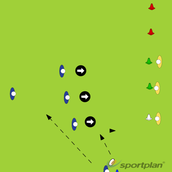Attacking spaceBacks MovesRugby Drills Coaching