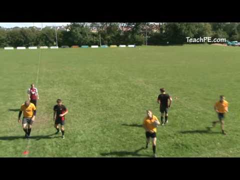 Rugby drills - passing - 3v2 draw and passRugby Drills Coaching