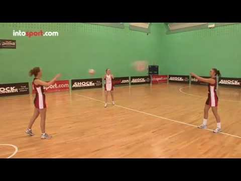 Netball 3 point passing drill- catch and releasePassingNetball Drills Coaching