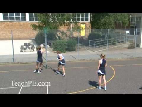 Netball drill - shooting - free for ball - the cut backShootingNetball Drills Coaching