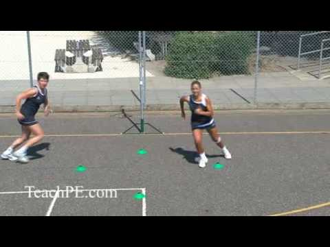 Netball drill - shooting - free for ball - the circle rotationMovementNetball Drills Coaching