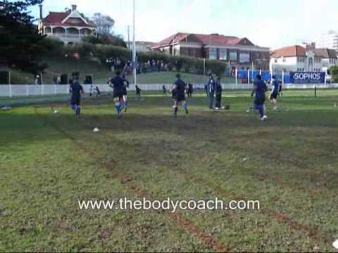 Paul collins pre-game dynamic warm-up for rugby union- www.thebodycoach.comWarm UpRugby Drills Coaching