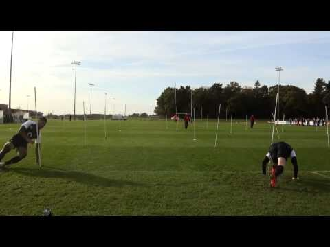 Fitness testing with england rugbyRugby Drills Coaching