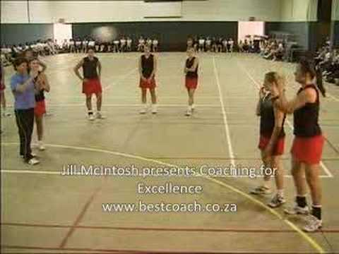 Netball coaching for defence on circle edgePassingNetball Drills Coaching