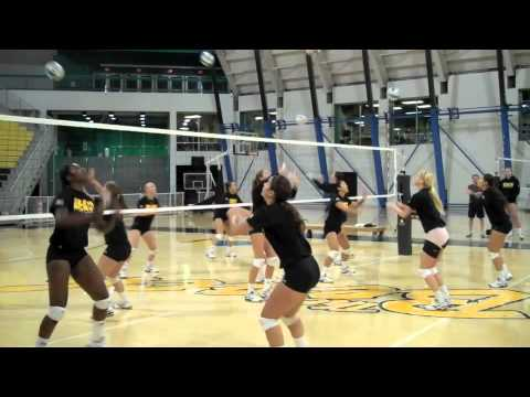 Lbsu volleyball's unique warmup drill2 Warm UpVolleyball Drills Coaching