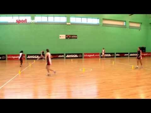 Netball drills- running box drillMovementNetball Drills Coaching