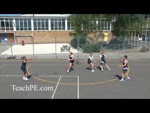 Netball drill - shooting - circle rotation with defenderShootingNetball Drills Coaching