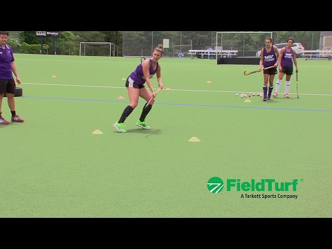 The shuttle │ passing drill │ field hockey training with amy cohenHockey Drills Coaching