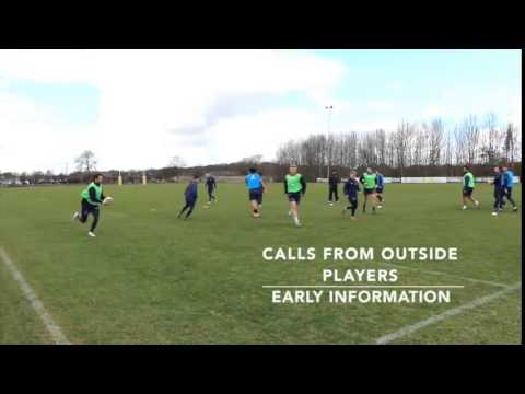 Rugby running lines drill from newcastle flaconsRugby Drills Coaching