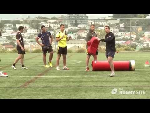 Mike friday 7's defence 3rd man decision making around the breakdownRugby Drills Coaching