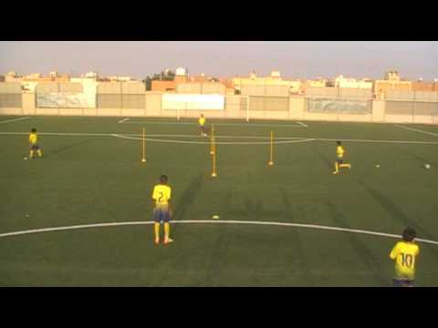 Soccer drill - al nassr u 13 - individual space creatingPossessionFootball Drills Coaching