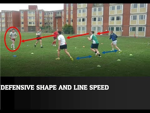 Rugby league - defensive training and line speed drillsRugby Drills Coaching