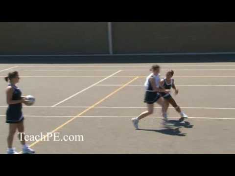 Netball - attacking movement - the front cutMovementNetball Drills Coaching