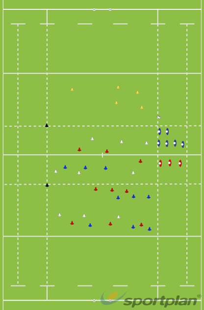 Thamesians pre-season Support/Running Lines Part2Decision makingRugby Drills Coaching