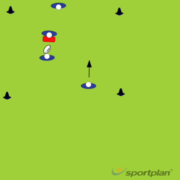 Catching high ball progression 3Rugby Drills Coaching