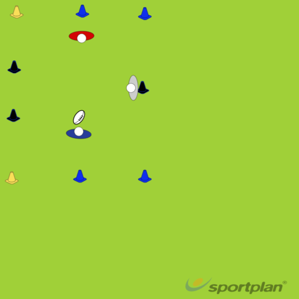 1 v 1 Space Invaders drillRugby Drills Coaching