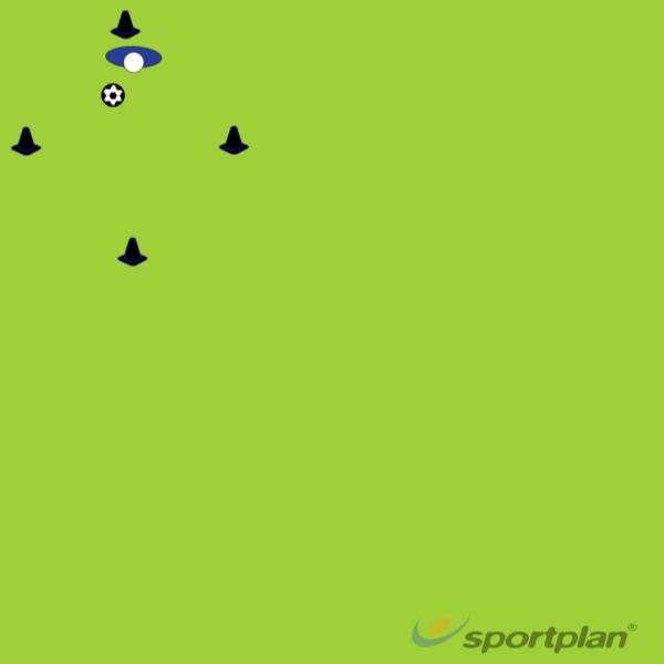 4 Cone Fundamental Dribbling DrillDribblingFootball Drills Coaching