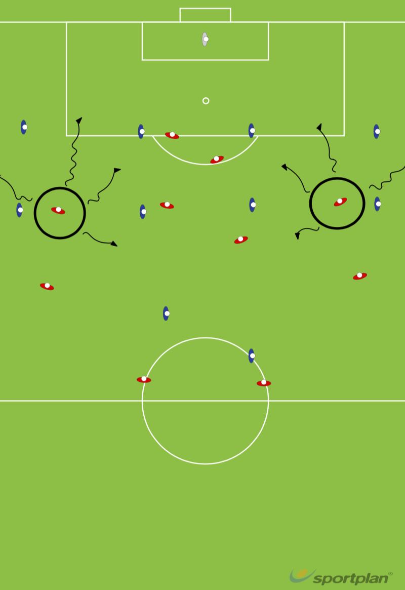 Team Formation 4-4-2 - WingersFootball Drills Coaching