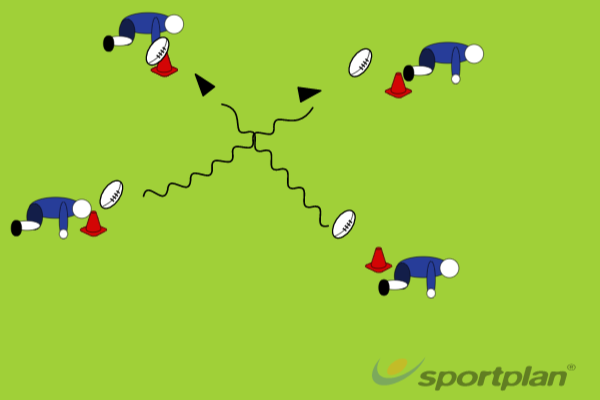 Drill 1: Evasive Grid Running 5 minutesRugby Drills Coaching