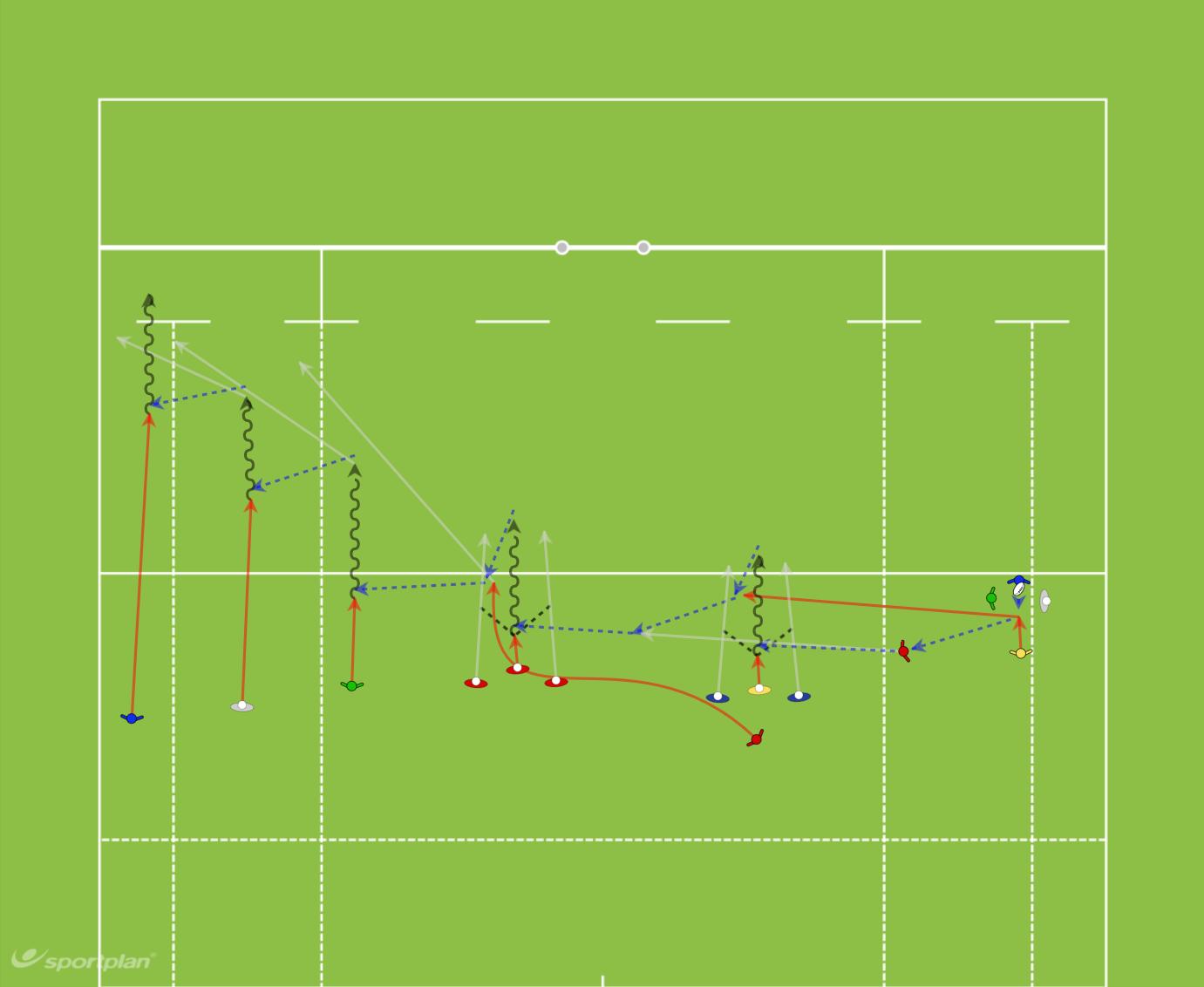 2 Variación Ataque (pases)Rugby Drills Coaching
