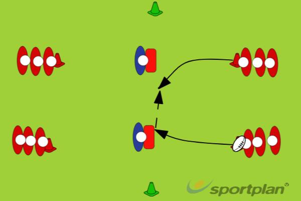 2 vs 2 escuderosHandlingRugby Drills Coaching