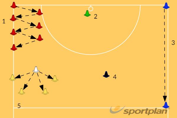 Netball CircuitGroup practicesNetball Drills Coaching